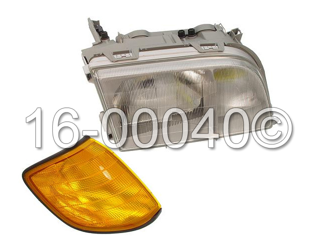 Mercedes_Benz 400SEL                         Headlight AssemblyHeadlight Assembly