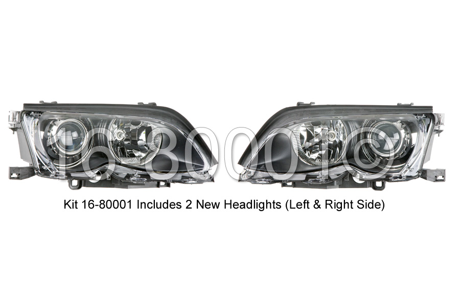 BMW 330xi                          Headlight Assembly PairHeadlight Assembly Pair