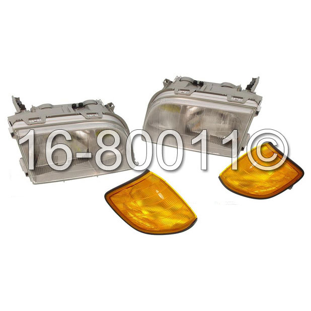 Mercedes_Benz 400SE                          Headlight Assembly PairHeadlight Assembly Pair