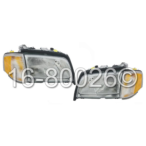 Mercedes_Benz C280                           Headlight Assembly PairHeadlight Assembly Pair