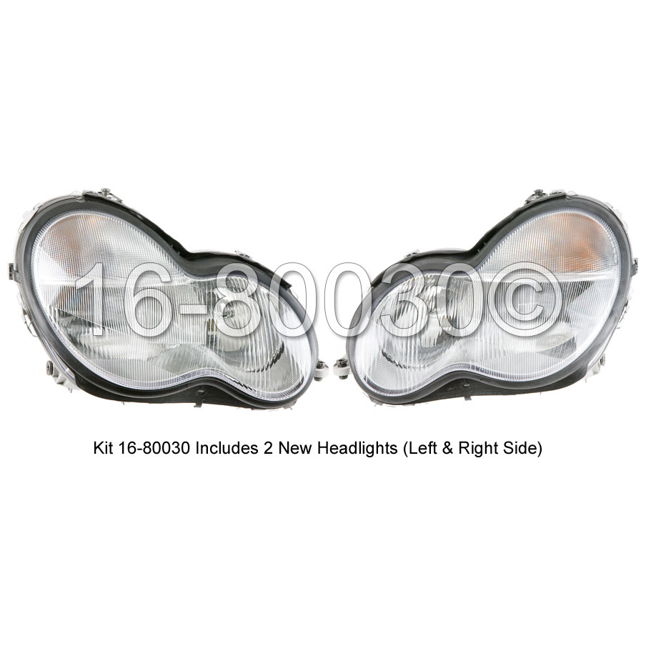 Mercedes_Benz C240                           Headlight Assembly PairHeadlight Assembly Pair