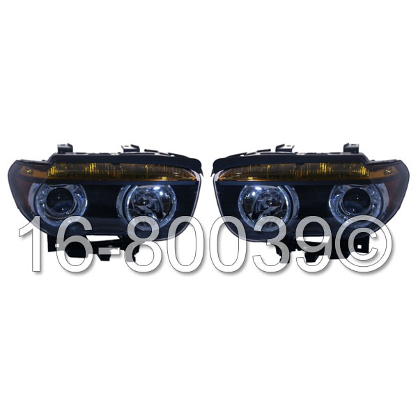 BMW 745                            Headlight Assembly PairHeadlight Assembly Pair