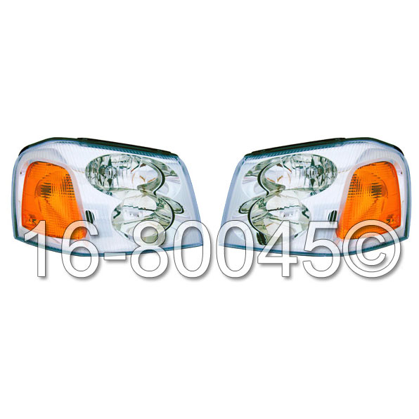 GMC Envoy                          Headlight Assembly PairHeadlight Assembly Pair