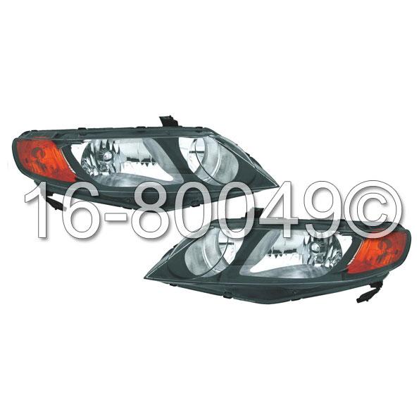 Honda Civic                          Headlight Assembly PairHeadlight Assembly Pair