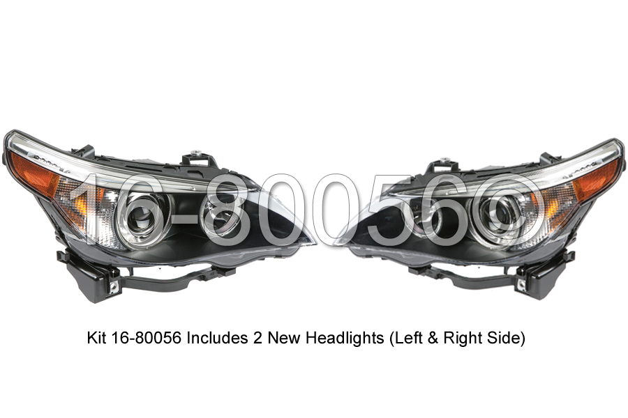 BMW 545                            Headlight Assembly PairHeadlight Assembly Pair