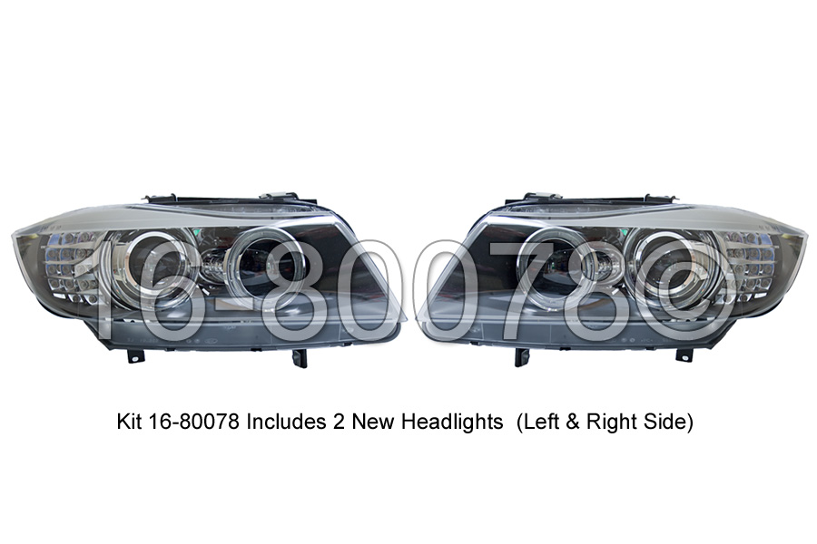 BMW 335xi                          Headlight Assembly Pair