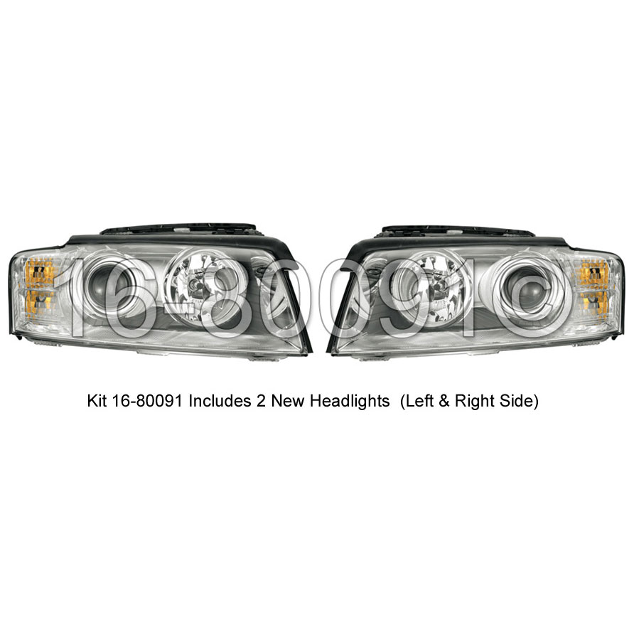 Audi A8                             Headlight Assembly Pair