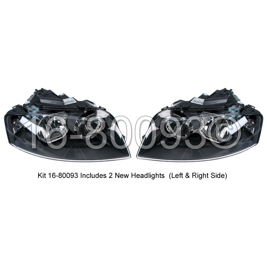 Audi A3                             Headlight Assembly PairHeadlight Assembly Pair