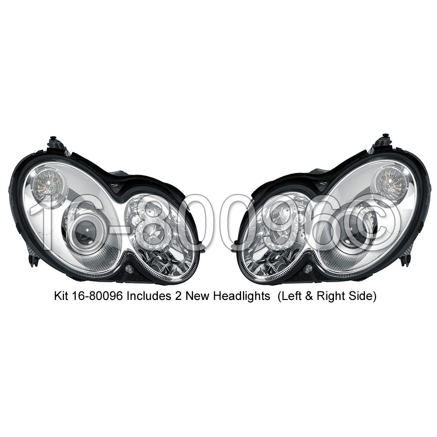 Mercedes_Benz CLK63 AMG                      Headlight Assembly Pair
