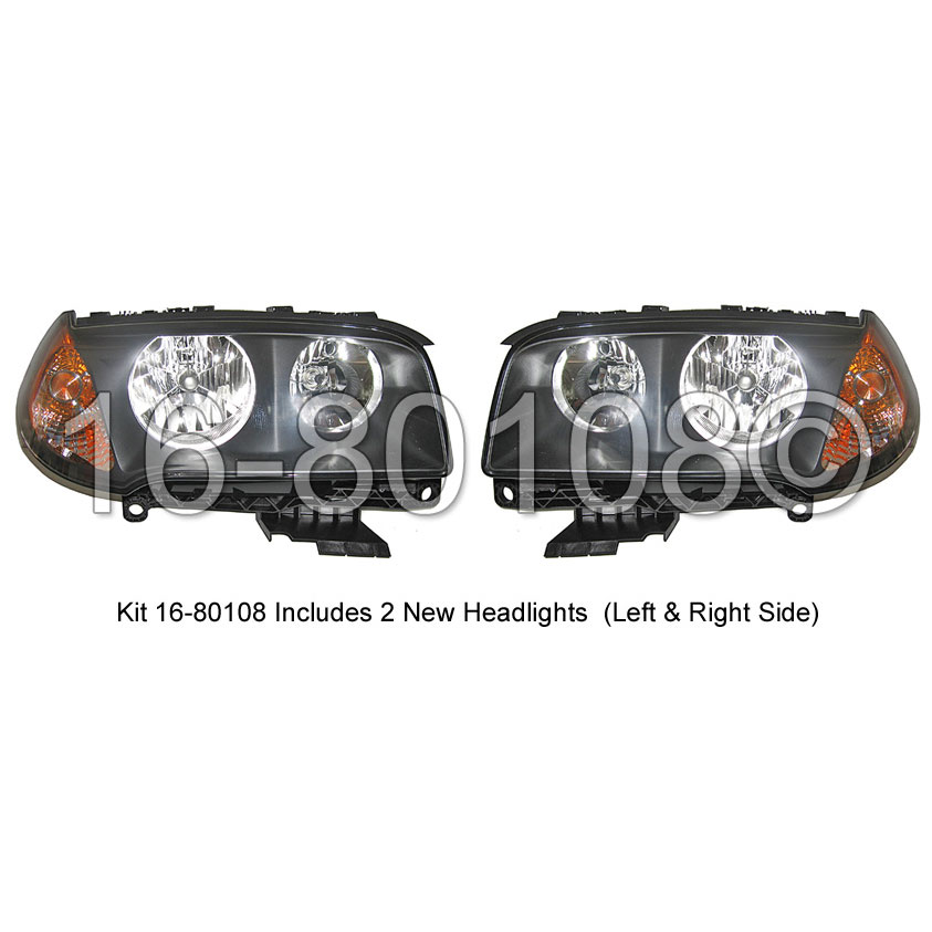 BMW X3                             Headlight Assembly PairHeadlight Assembly Pair