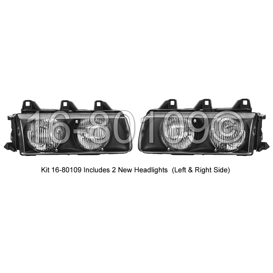 BMW 318ti                          Headlight Assembly Pair