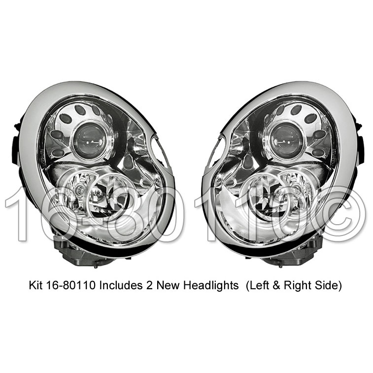 Mini Cooper                         Headlight Assembly PairHeadlight Assembly Pair