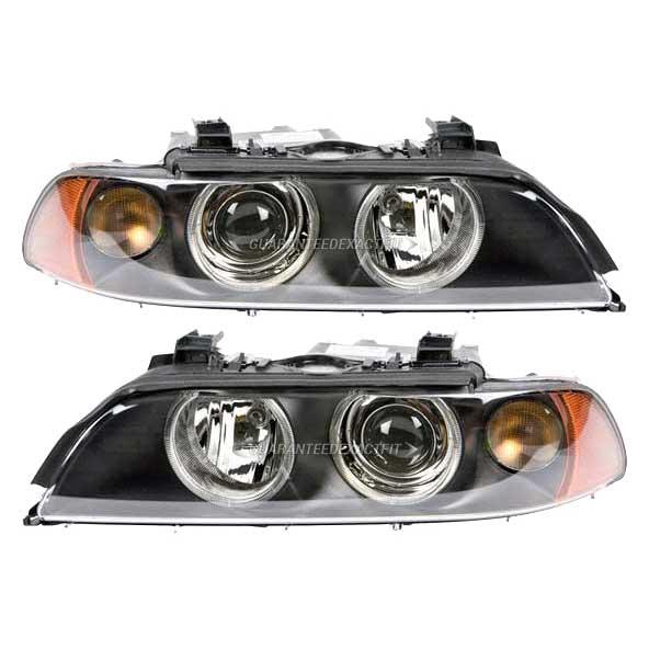 pair left right genuine oem new hella headlights fits bmw e39 5 series. Black Bedroom Furniture Sets. Home Design Ideas