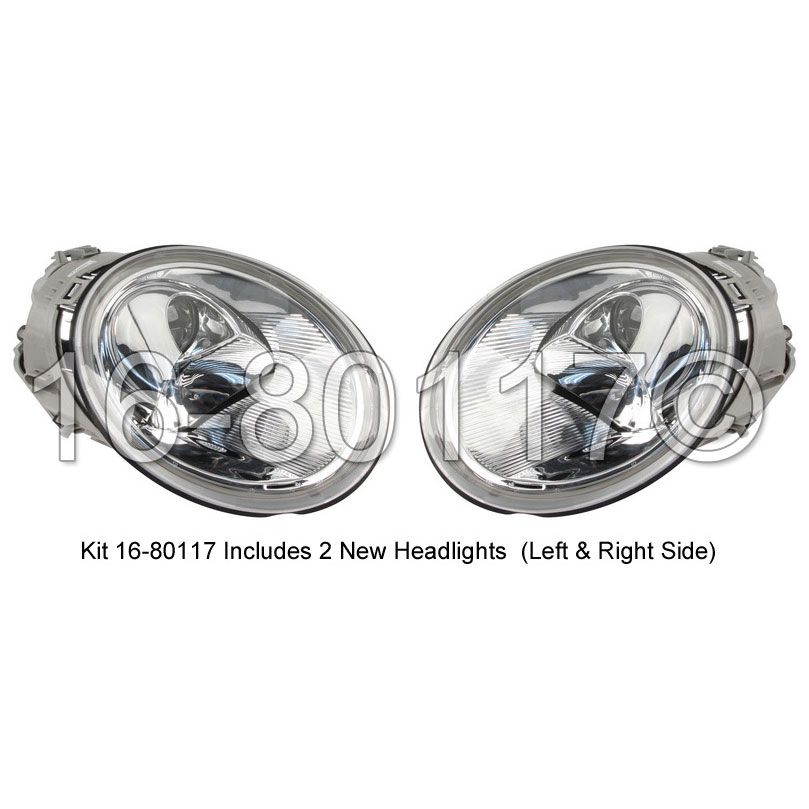 Volkswagen Beetle                         Headlight Assembly PairHeadlight Assembly Pair