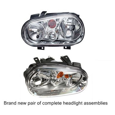 Volkswagen Golf                           Headlight Assembly PairHeadlight Assembly Pair