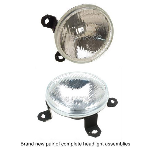 Volkswagen Cabriolet                      Headlight Assembly PairHeadlight Assembly Pair