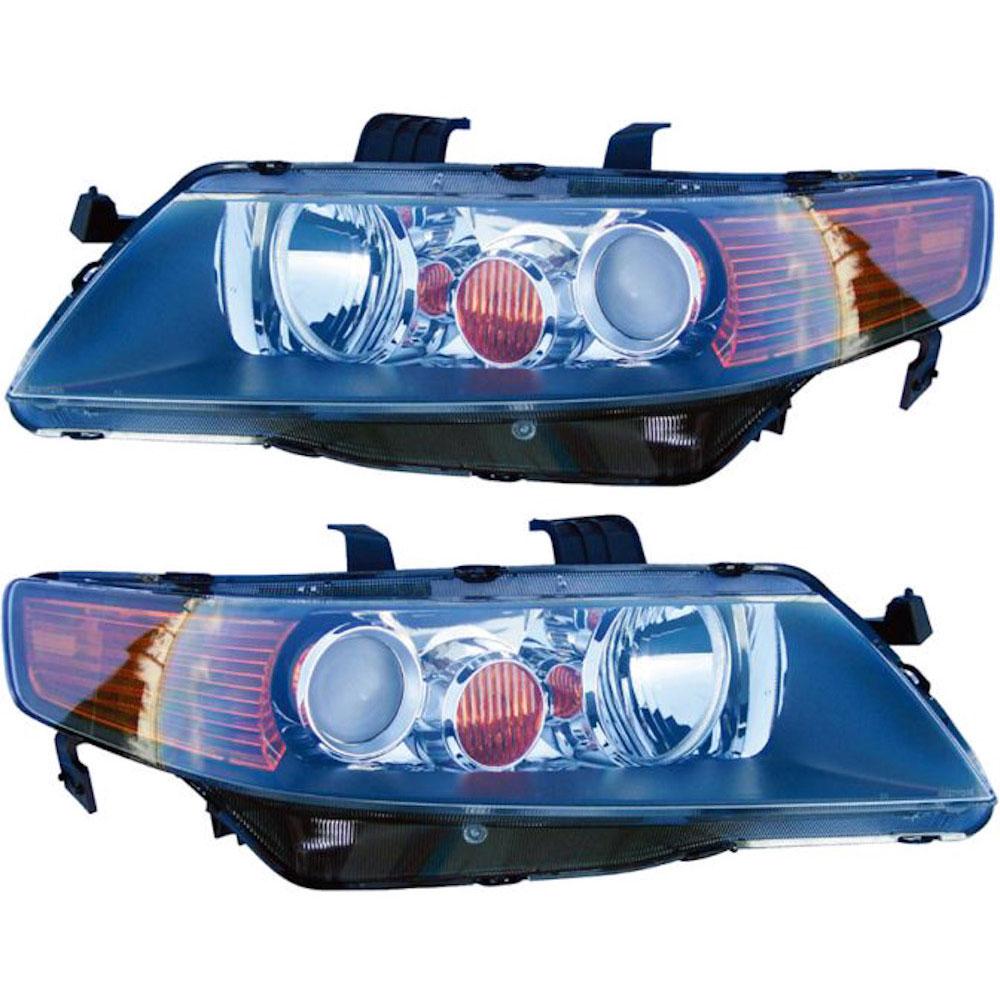 Acura TSX                            Headlight Assembly Pair