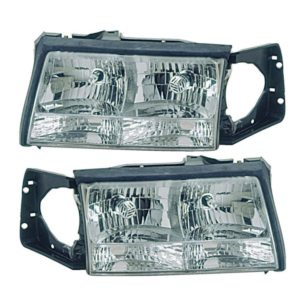 Cadillac Deville                        Headlight Assembly PairHeadlight Assembly Pair