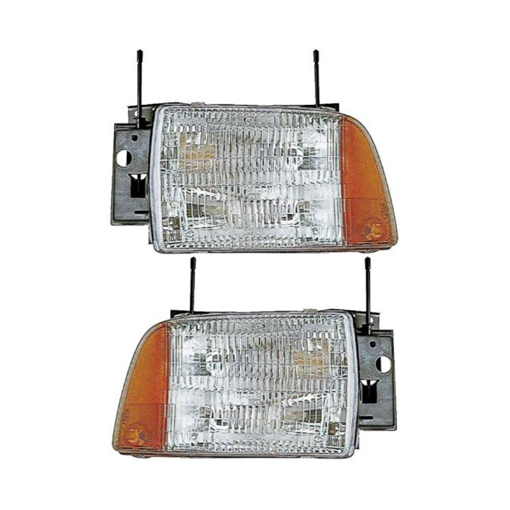Chevrolet Blazer S-10                    Headlight Assembly PairHeadlight Assembly Pair