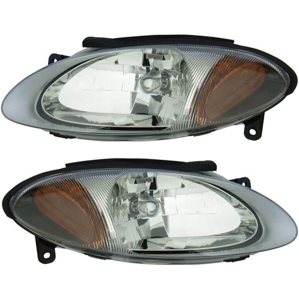 Ford Escort                         Headlight Assembly PairHeadlight Assembly Pair