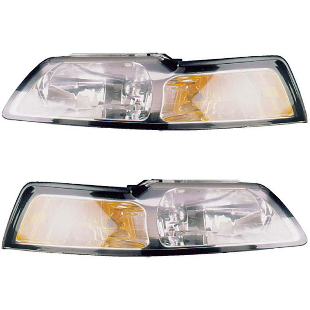 Ford Mustang                        Headlight Assembly PairHeadlight Assembly Pair