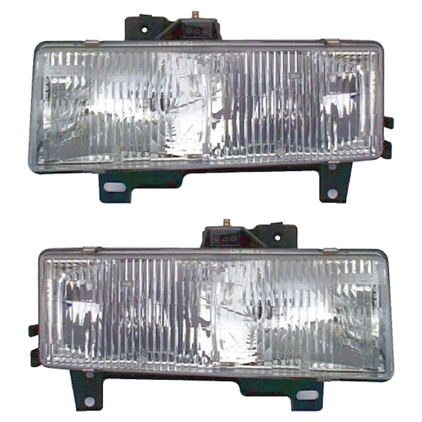 GMC Sierra                         Headlight Assembly PairHeadlight Assembly Pair