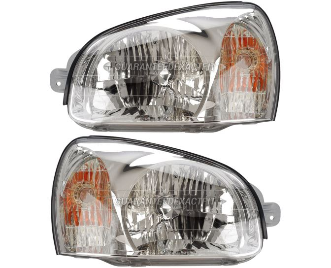 Hyundai Santa Fe                       Headlight Assembly PairHeadlight Assembly Pair