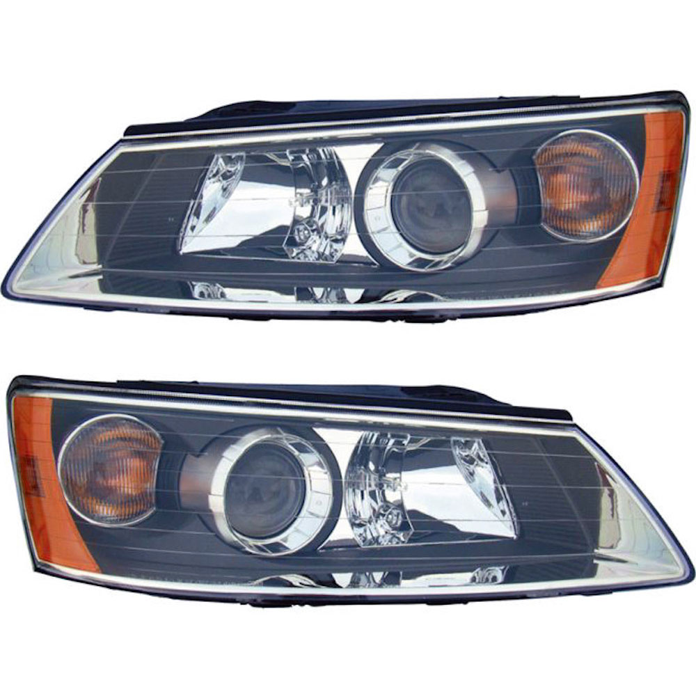 Hyundai Sonata                         Headlight Assembly PairHeadlight Assembly Pair