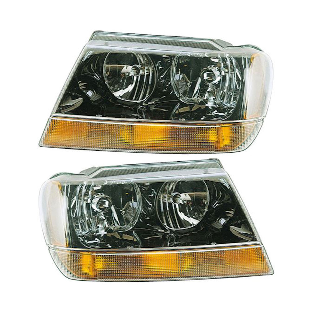 Jeep Grand Cherokee                 Headlight Assembly PairHeadlight Assembly Pair