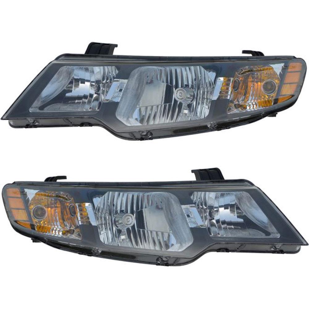 Kia Forte                          Headlight Assembly Pair