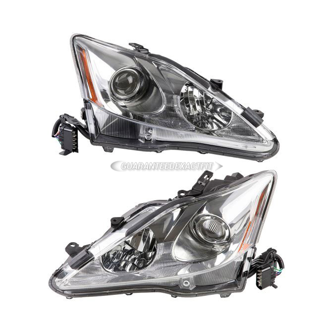 Lexus IS250                          Headlight Assembly PairHeadlight Assembly Pair