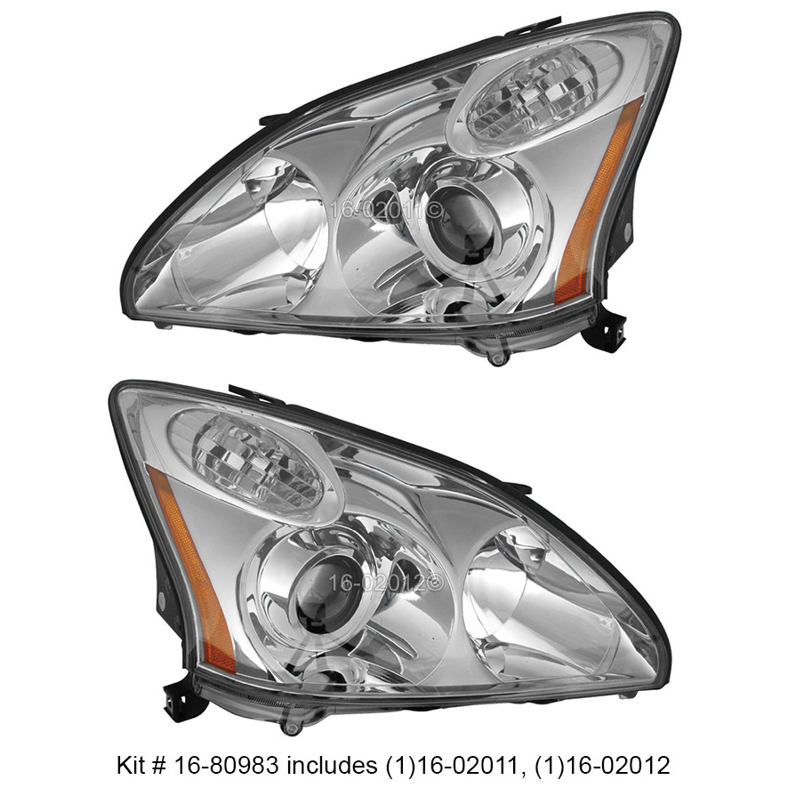 Lexus RX400h                         Headlight Assembly Pair