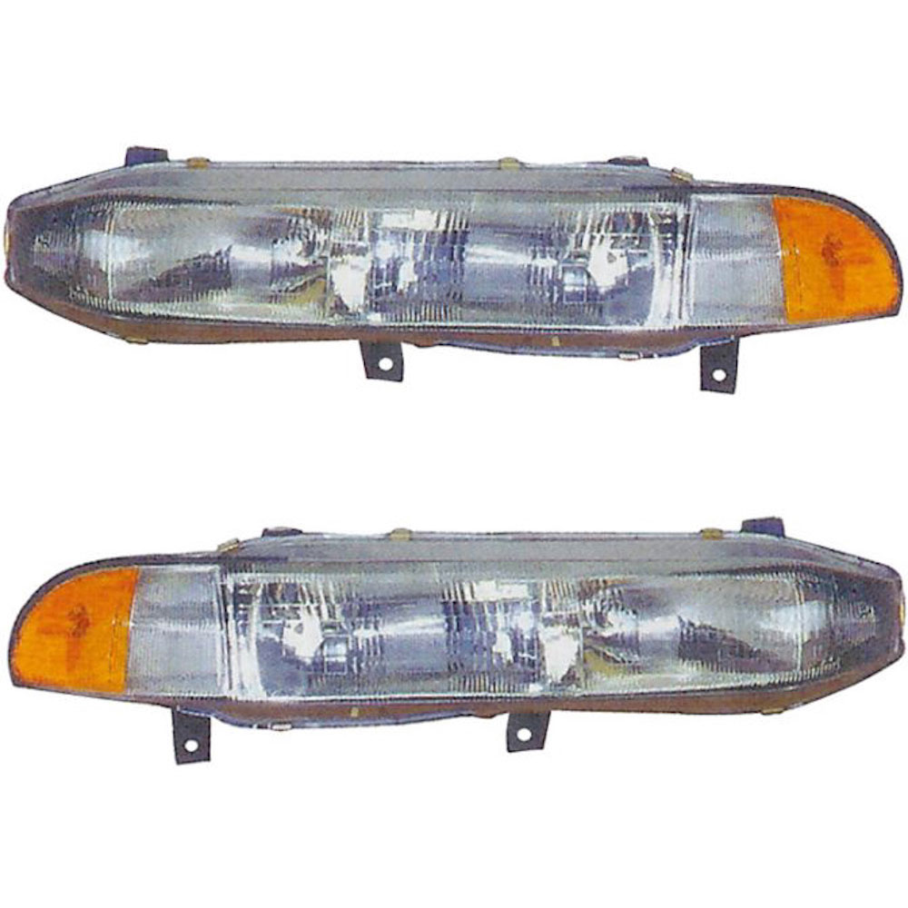 Mitsubishi Galant                         Headlight Assembly PairHeadlight Assembly Pair