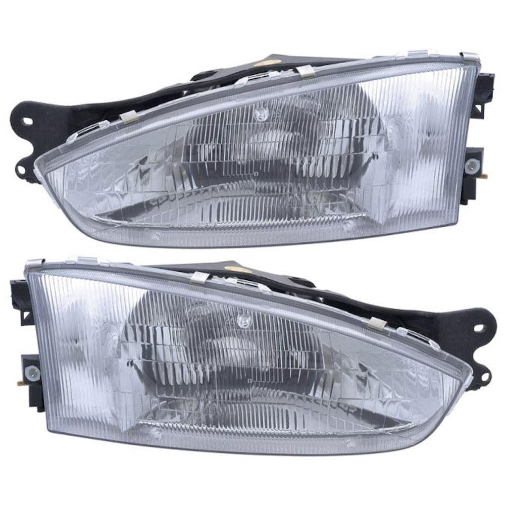 Mitsubishi Mirage                         Headlight Assembly PairHeadlight Assembly Pair