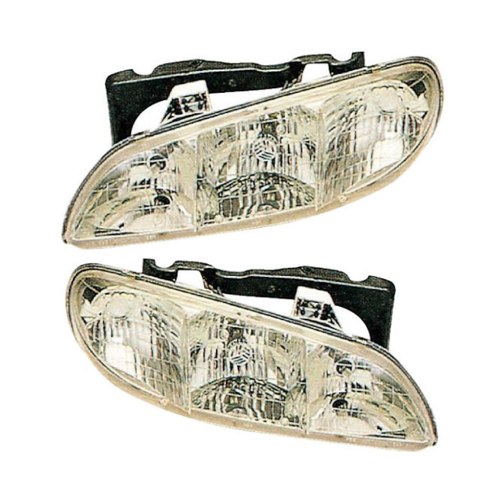 Pontiac Grand AM                       Headlight Assembly PairHeadlight Assembly Pair