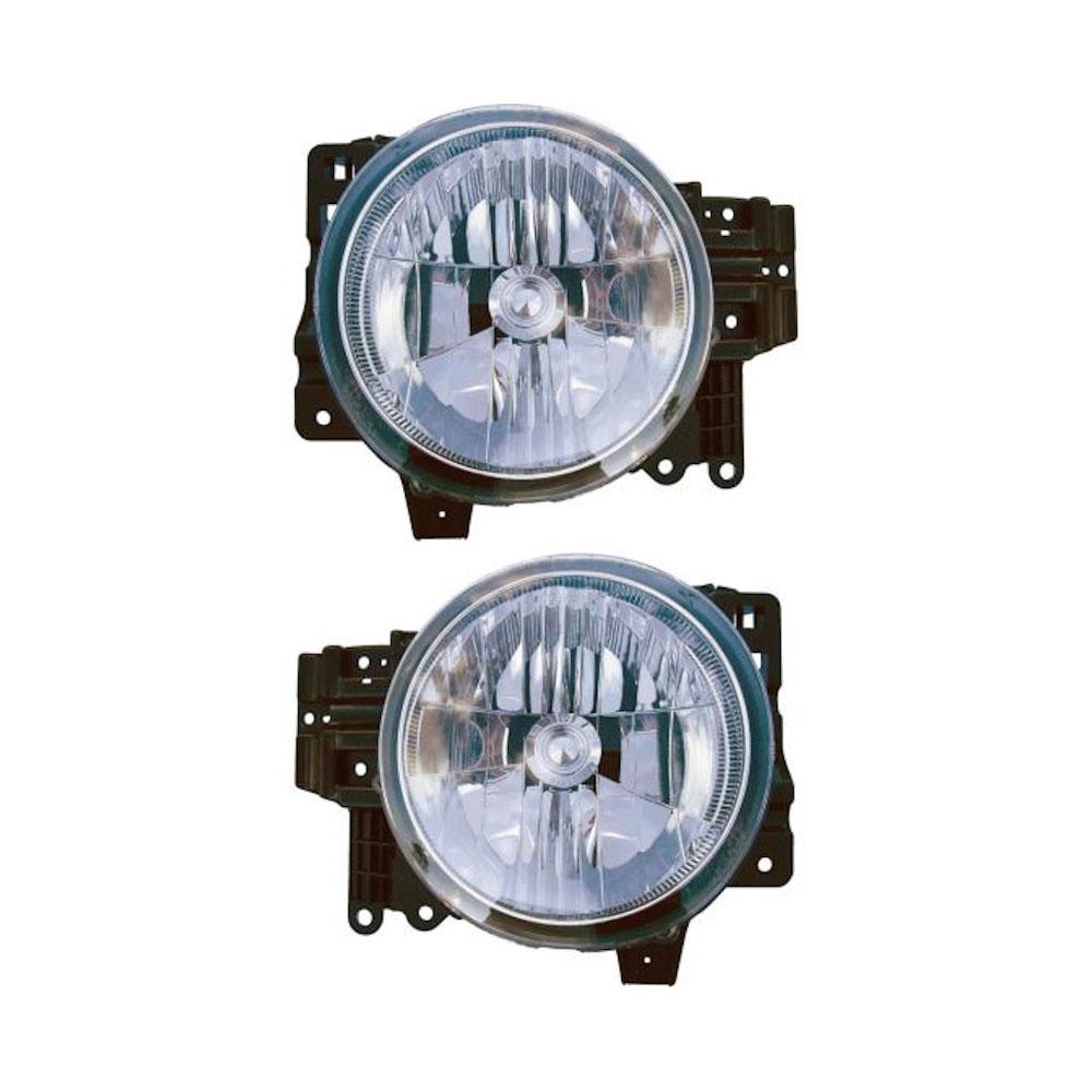 Toyota FJ Cruiser                     Headlight Assembly Pair