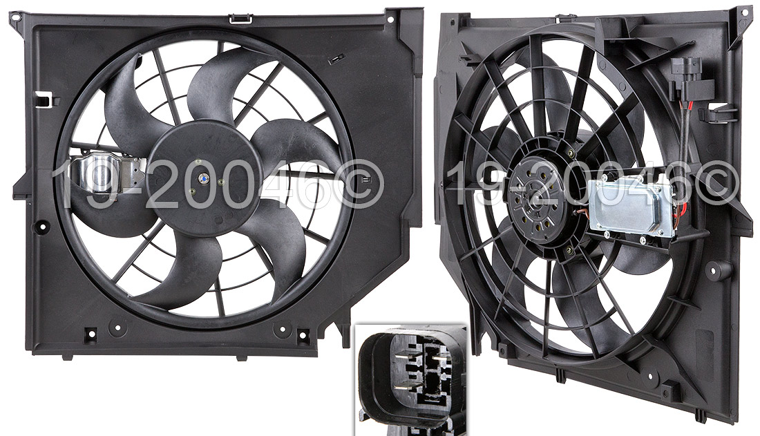 BMW 323i                           Cooling Fan AssemblyCooling Fan Assembly