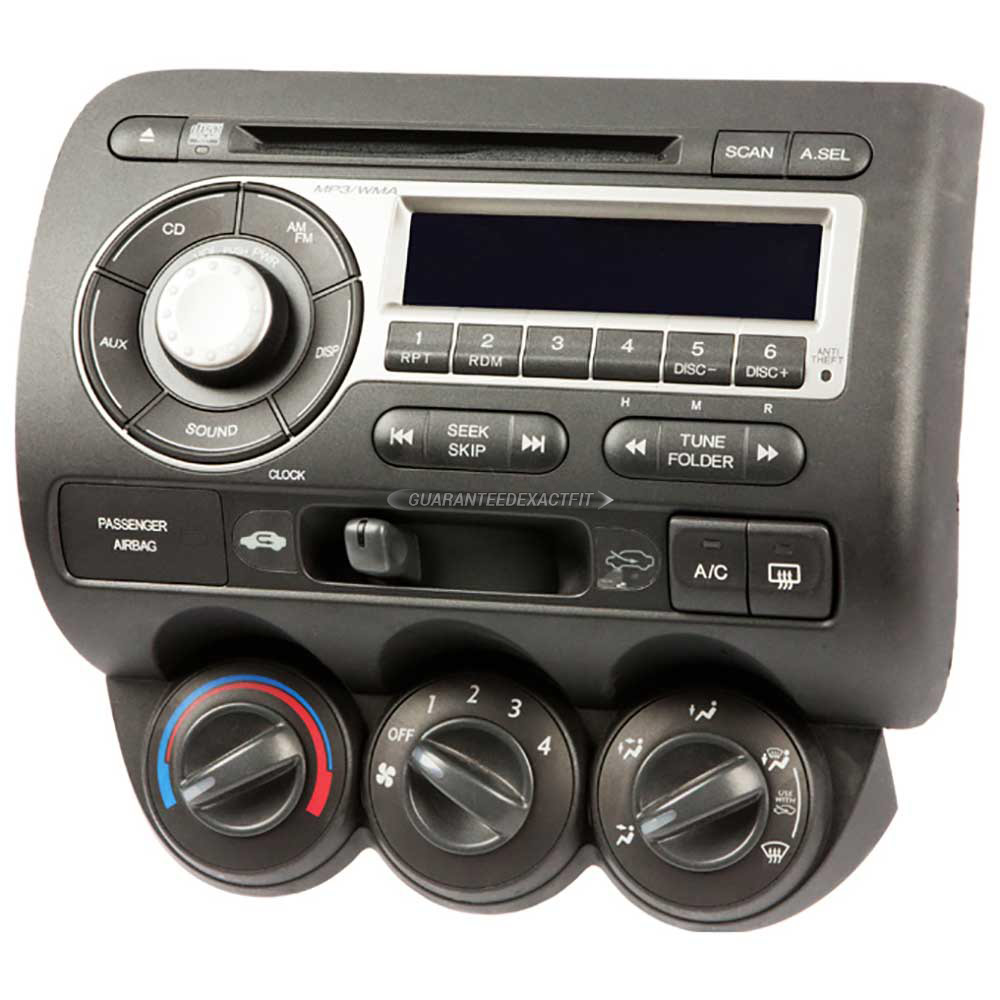 Honda Fit                            Radio or CD PlayerRadio or CD Player