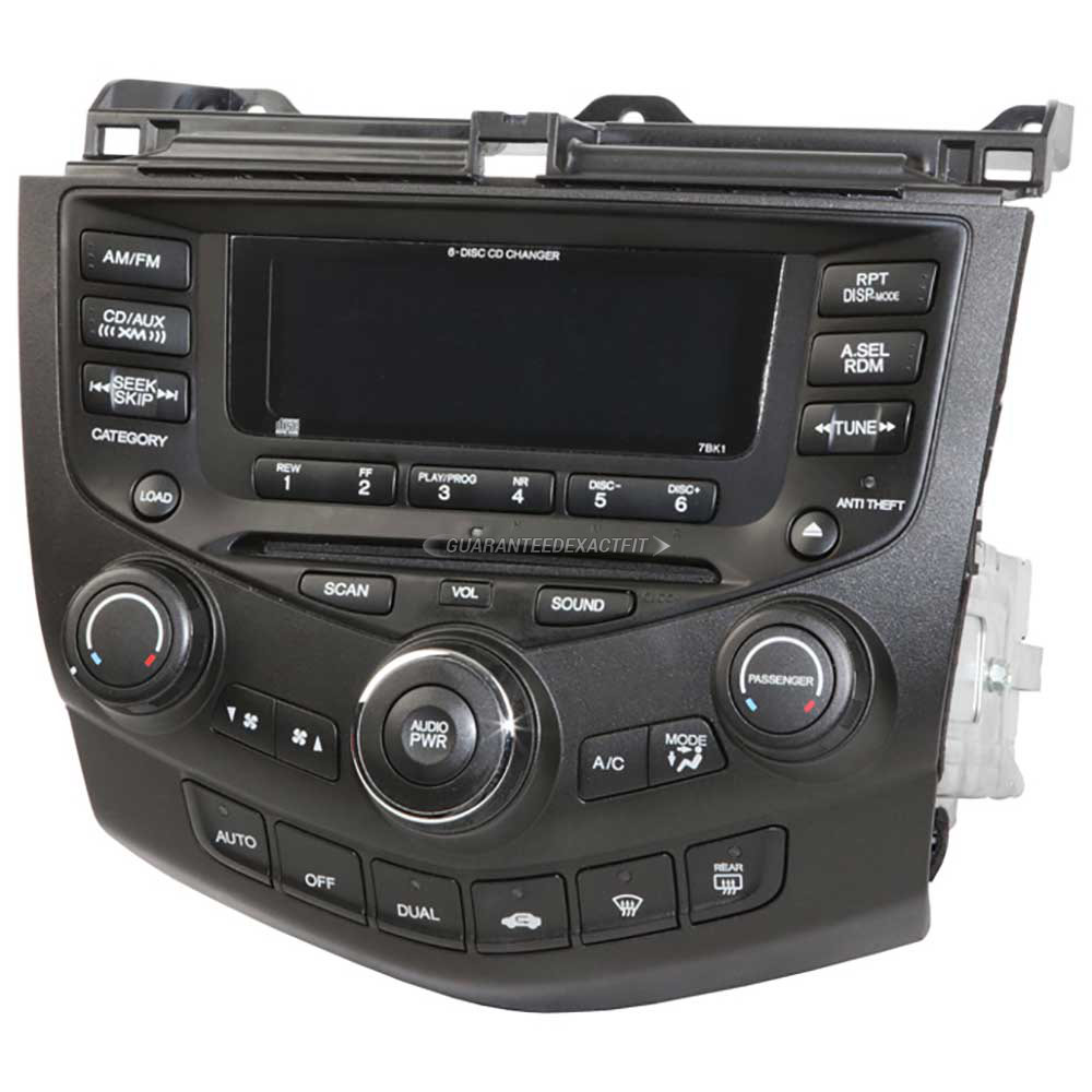 Honda Accord                         Radio or CD PlayerRadio or CD Player