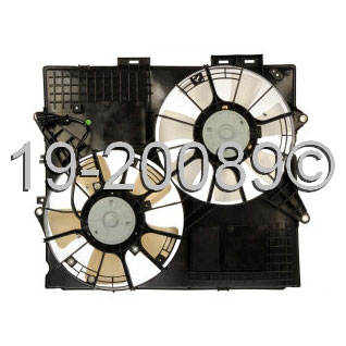 Cadillac SRX                            Cooling Fan AssemblyCooling Fan Assembly