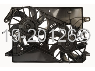 Chrysler 300M                           Cooling Fan AssemblyCooling Fan Assembly