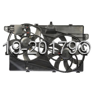 Lincoln MKX                            Cooling Fan AssemblyCooling Fan Assembly