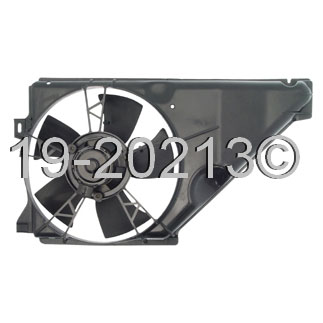 Mercury Topaz                          Cooling Fan AssemblyCooling Fan Assembly