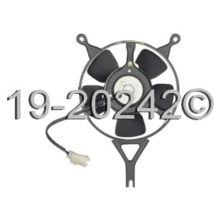 Honda CRX                            Cooling Fan AssemblyCooling Fan Assembly