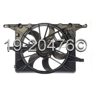 Saturn Sky                            Cooling Fan AssemblyCooling Fan Assembly