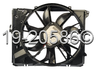 BMW 128i                           Cooling Fan AssemblyCooling Fan Assembly