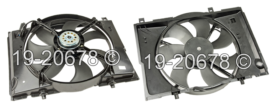 Chrysler Crossfire                      Cooling Fan AssemblyCooling Fan Assembly