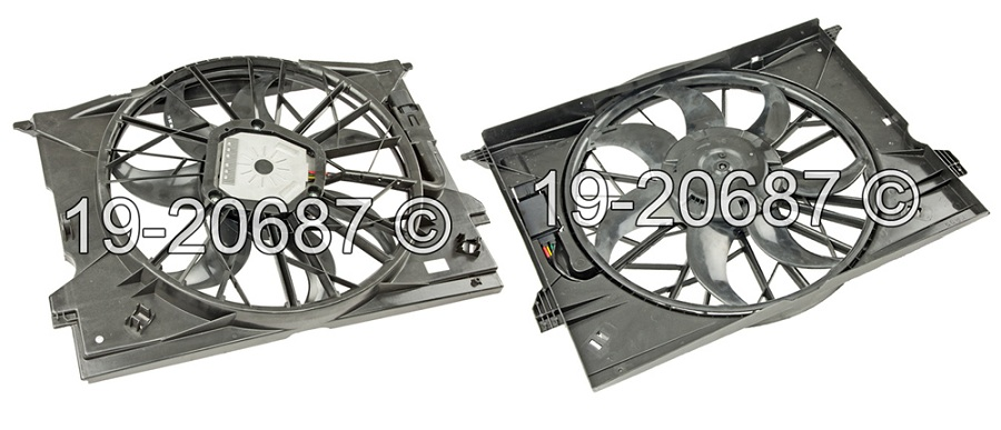 Mercedes_Benz E55 AMG                        Cooling Fan AssemblyCooling Fan Assembly
