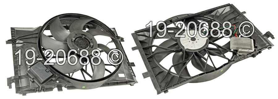 Mercedes_Benz CLK320                         Cooling Fan AssemblyCooling Fan Assembly