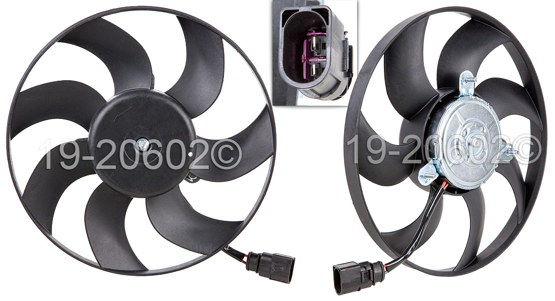 Volkswagen Eos                            Cooling Fan AssemblyCooling Fan Assembly